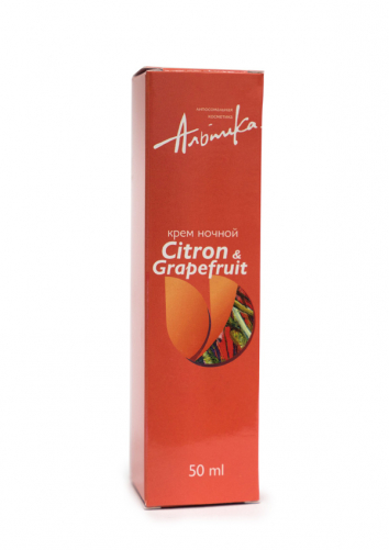 Альпика   Ночной крем Citron a Grapefruit, 50 мл